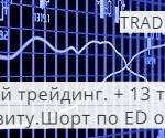 Живой трейдинг. Сделка по ED от 24.06